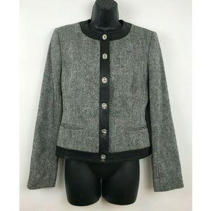 Michael Kors MK Designer Black Blazer Jacket Sz 4